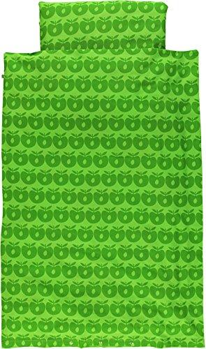 Smafolk junior Kinder Bettwäsche 100cm x 140cm grün Allover Apples