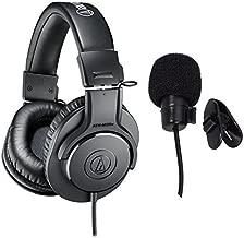 Audio-Technica ATH-M20x Professional Studio Monitor Headphones Deluxe Bundle