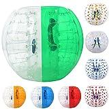 Giant Bubble–Balón de fútbol, hinchable, bolas, diámetro 1,5m (5pies) humanos Hamster pelota para adultos y adolescentes (Reino Unido stock), Green & White-1.5m