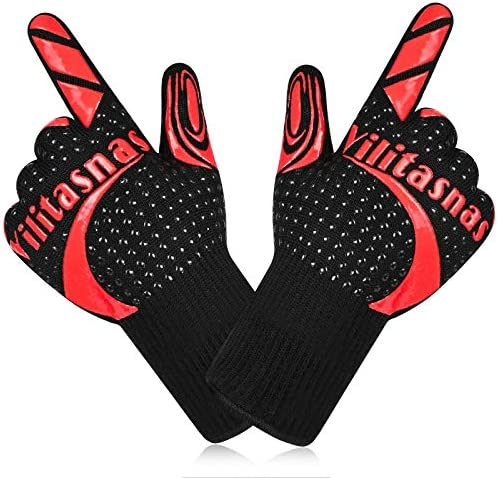 Oven Mitts 932 Heat Resistant BBQ Gloves with Fingers Unisex Extra Long Oven Gloves for Kitchen product image