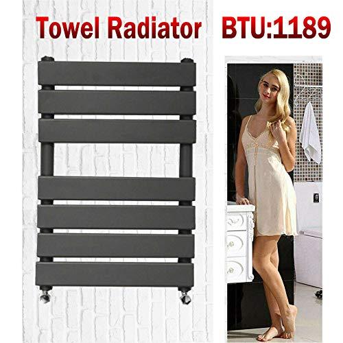 Xinng 650x500mm Designer Handdoek Radiator Flat Panel Antraciet Verwarmd Warmer Radiator voor Badkamer Keuken Wasruimte Anti Roest Staal Muur Gemonteerd BTU 1189