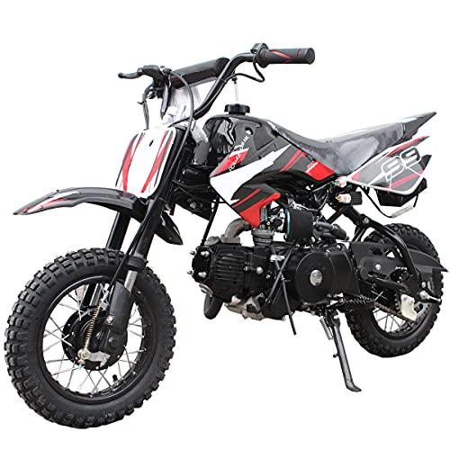 X-PRO 110cc Dirt Bike Pit Bike Mini Gas Dirt Bike Kids Youth Dirt Bike Pit Bike 110cc Gas Dirt Pitbike,Black