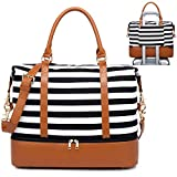 Best Carry On Bag For Women - Womens Travel Weekend Bag Canvas Overnight Carry on Review