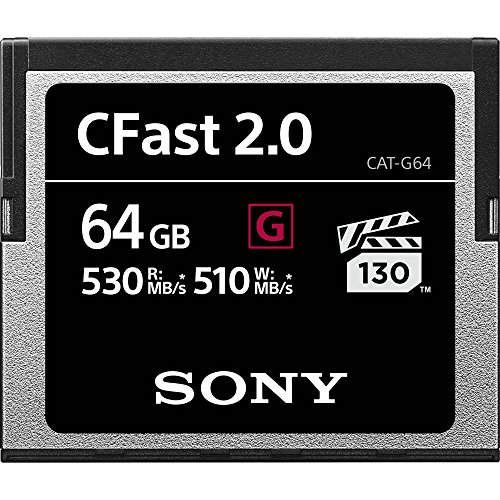 Sony 64GB CFast 2.0Profesional Flash Tarjeta de Memoria