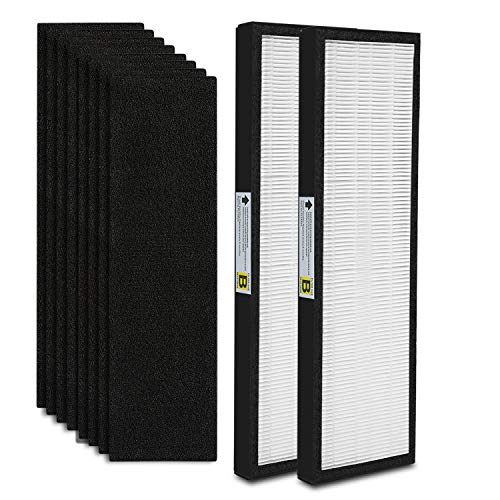 Read About 2-Pack FLT4825 True HEPA Air Purifier Filter B Replacement Compatible for GermGuardian Mo...