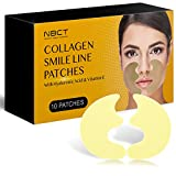Smile Line Patch | Anti-Wrinkle Facial Strips | Moisturizing & Tightening | Laugh Lines Care Patches | 2020 Formula - 5 Pairs