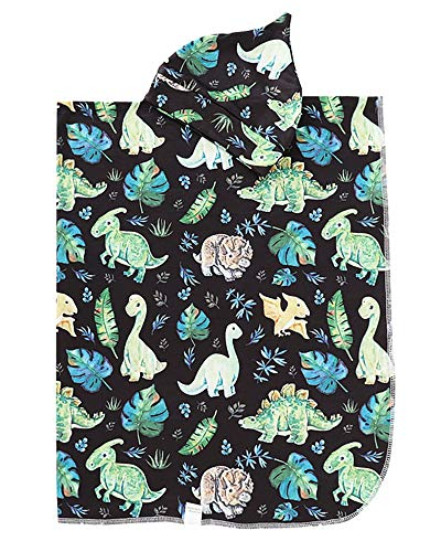 NZRVAWS Newbron Receiving Blankets for Boys Dinosaur Baby Swaddle Wrap Soft Baby Blankets with Hat