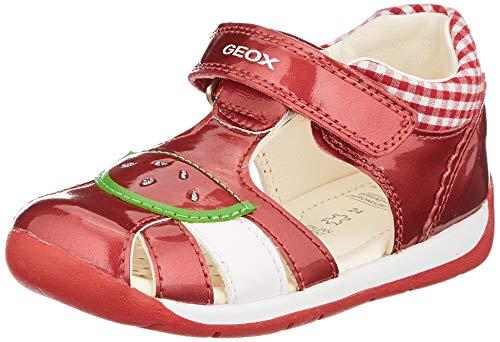 Geox Baby Mädchen B Each Girl B Sandalen, Rot (Red C7000), 22 EU