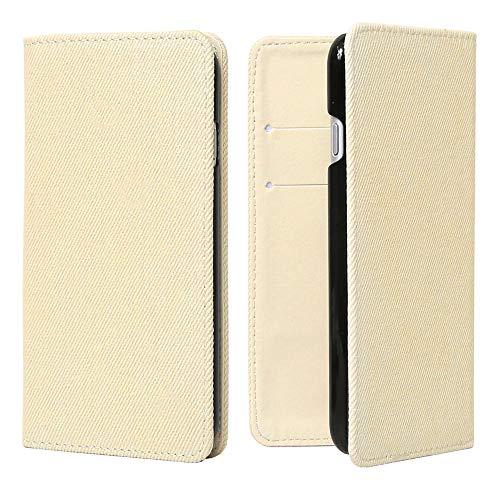 OPPO A73 ケース 手帳型 オッポ スマホケース ホワイト デニム