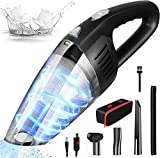 Fiercewolf Cordless Handheld Vacuum Cleaner, 8000PA Strong Suction,120W Powerful, Rechargeable Lightweight Wet Dry Portable Car Vacuum Cleaner for Pet Hair, Home and Car Cleaning (Black)