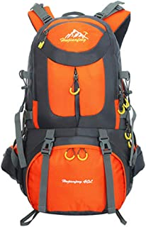 Bbwjsh Outdoor Backpack Mountaineering Bag Sports Backpack Men and Women Large Capacity Leisure Travel Travel Bag New Bag (Color : 1, Size : 60L)