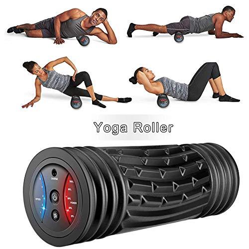 lembrd Faszienrolle Vibration Massagerolle 29cm mit Intensiver Tiefenvibration Foam Roller mit 5 Vibrationsstufe, Muskelentspannungs Vibrationsmassagegerät für Sportgeräte