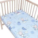 Happy Lambs - Pati'Chou 100% Baumwolle Spannbetttuch für Kinderbetten und