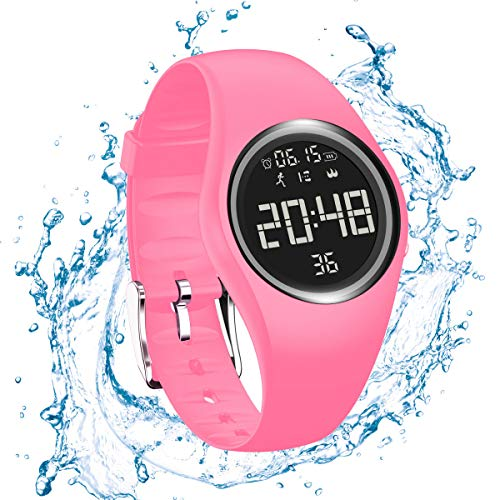 RCruning-EU Pulsera Actividad Impermeable IP68 Fitness Smartwatch Tracker Contador de Pasos, Contador de Calorías,Distancia niños Mujer Hombre - Non-Bluetooth Non-App