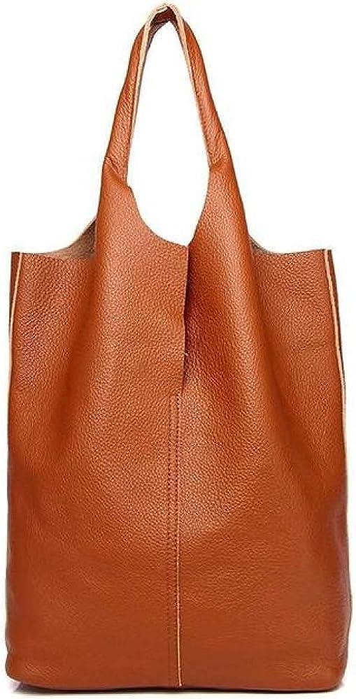 Luxury Soft Leather Women New item half Shoulder Bag Fe Casual Natural