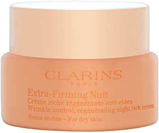 Clarins Extra-Firming Nuit Wrinkle Control Regenerating Night Rich Cream Dry Skin, 1.6 Ounces