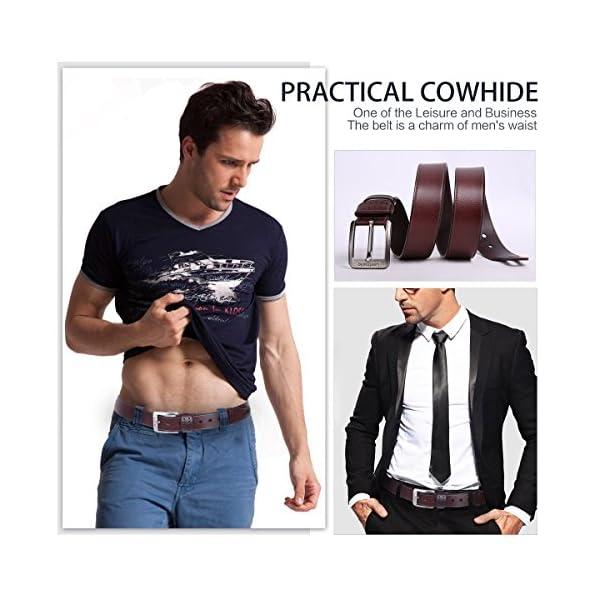 513 aosk8DL. SS600  - Leathario cinturones de hombre de piel sintetica cinturones de moda de cuero con buenos acabados para caballeros hebilla elegante