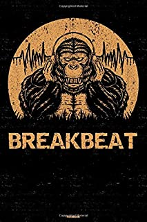 Breakbeat Notebook: Gorilla Breakbeat Music Journal 6 x 9 inch 120 lined pages gift