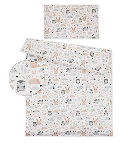 Kinderbettwäsche 120x90 2 Tlg. Bettwäsche zweiseitig 100% Baumwolle NEU Bettset (Lichtung)