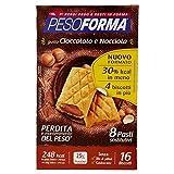 Pesoforma Biscotti Cioccolato e Nocciola, Pasto Sostitutivo Dimagrante, solo 248 Kcal, Ricco in Proteine - 8 Pasti