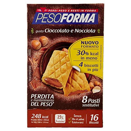 Pesoforma Biscotti Cioccolato e Nocciola - Pasto sostitutivo dimagrante - SOLO 248 Kcal - Ricco in proteine - 8 pasti
