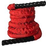 Batalla Cuerda Pesada comba de Crossfit ponderado Batalla Cuerdas de Saltar Power Training Mejorar la Fuerza Home Fitness Gym Equipment (Color : 9 Meters 38mm)