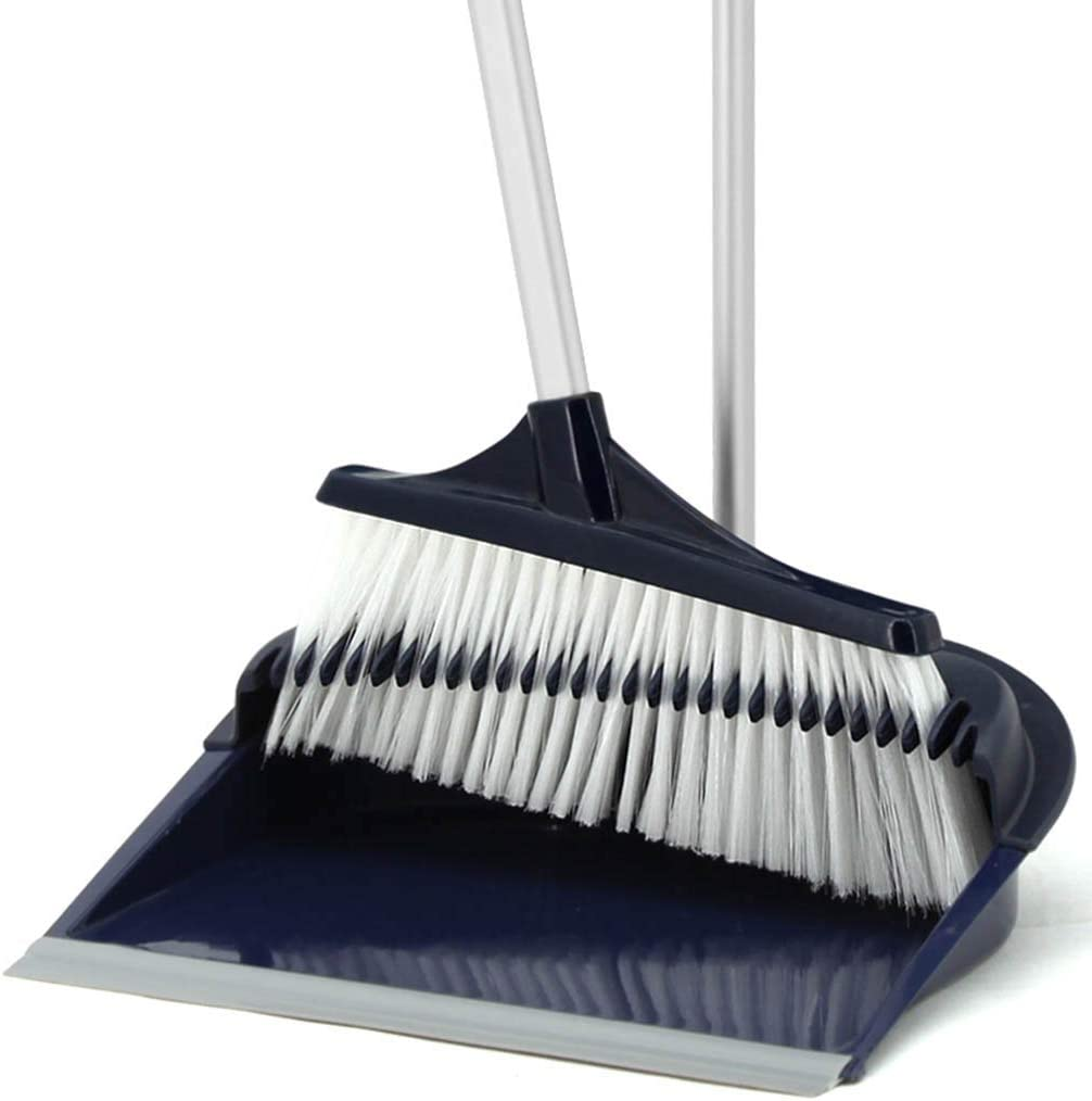 NLIAN- Long Handled Dustpan and Brush Broom Lobby PVC Overseas parallel import regular item Head Set Jacksonville Mall