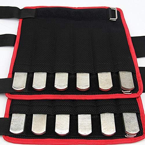 ZHIRCEKE Stahlplatte einstellbares Gewicht 1 kg Stück Stahlplatten für Gewichtsweste Fitness Gewichtsplatten für Krafttraining Joggen Sport Laufen Fitnessstudio (Silber),Feet
