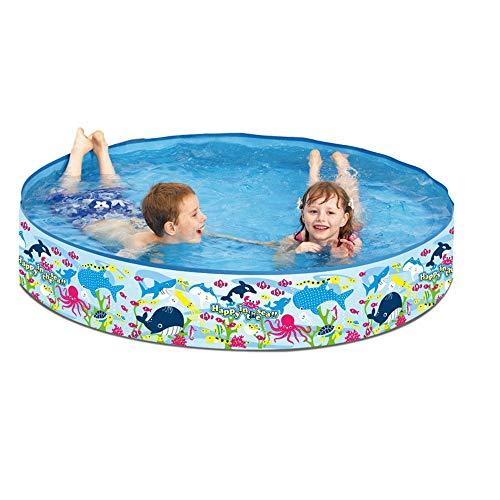 yaunli Aufblasbare Schwimmbecken Familienpool Kinderspielplatz Außenpool Garten aufblasbarer Swimmingpool (Farbe : Blau, Size : 150cm)