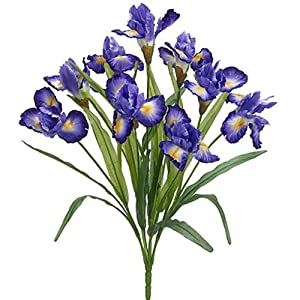 22″ Iris Silk Flower Bush -2 Tone Violet (Pack of 12)