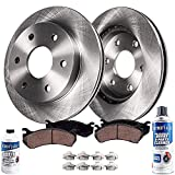Detroit Axle - 2WD 6-Lug Front Disc Rotors Brake Pads Replacement for 2004-2008 Ford F-150 Lincoln Mark LT - 6pc Set