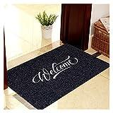 YWJFASHION Alfombra Antideslizante para Puerta Alfombra Moderna para el hogar Alfombra Absorbente Resistente a la Suciedad Alfombra de Entrada (Color : Black - Embroidery, Size : 40cmx60cm)