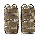 G4Free 2 Pack Bolsas Tácticas Molle Equipo de Gadgets de Utilidad Compacta Bolsa EDC Paquete Pequeño Bolsa de Cintura Chaleco de Pecho Alforja para Acampar al Aire Libre Senderismo Trekking