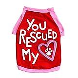 SunGren Pet Vest, Puppy Spring y Summer Footprints Love Vest para Perro pequeño Gato Pet Clothes Shirt (S, Rojo)