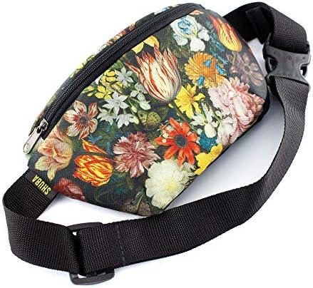 Chest Bag Flowers canvas Casual Daypack Crossbody Bag Belt Waist Packs Waist Pocket Adjustable product image