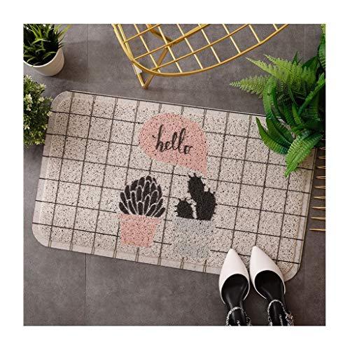 &tapis de salon Tapis de porte Tapis de protection│Prévent empêchant la saleté de se mouiller│ Tapis de tapis de porte d'entrée couvertures (Couleur : B, taille : 60 * 90cm)