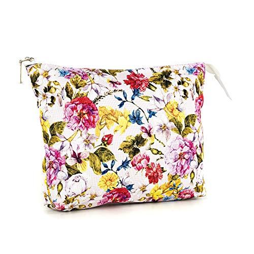 LimeWorks Kulturbeutel Reisebeutel Kosmetiktasche Blumen-Motiv Floral Muster