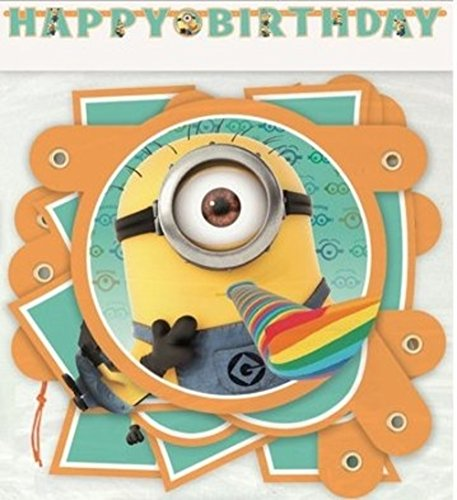 Minion Despicable Me Birthday Banner 6 ¼ ft Long