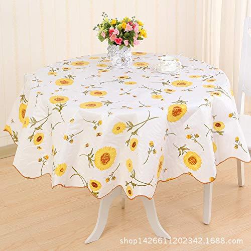 ShiyueNB PVC kunststof waterdicht tafelkleed hotel rond rechthoekige tafel salontafel doek tafelkleed druk eenvoudig modern Goud Gouden paars gouden bloem 50 rond