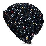 CVDGSAD Invierno Running Beanie Hat Pac Man Retro Arcade Gaming Design Gorro de Punto...