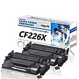 Jagute CF226X Cartucce Toner Sostituzione HP 26X CF226XD Compatibile con stampanti HP LaserJet Pro M402 M402N M402D M402DN M402DNE M402DW, M426 M426DW M426FDN M426FDW M426M (2 Nero)