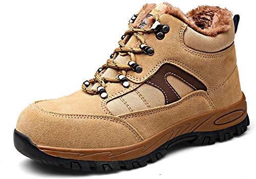 LBHH Zapatos de Trabajo,Botas de Seguridad Zapatos de Seguridad de Ajuste cómodo para Hombre Zapatillas de Seguridad Ligeras con Puntera de Acero Zapatos de Trabajo Botas de Seguridad