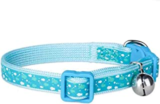 """herohua Super Small Size Cats Collar for Easter Party Dressing, 6""""-9"""" Neck Size Small, Blue"""
