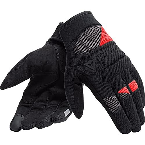 Dainese Motorradhandschuhe kurz Motorrad Handschuh Fogal Textilhandschuh schwarz/rot, Unisex, Sportler, Ganzjährig