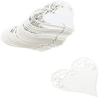 Namenskarten Herz 5 cm gold 12 Stk.Tischkarte Platzkarte Geschenkanhänger Deko