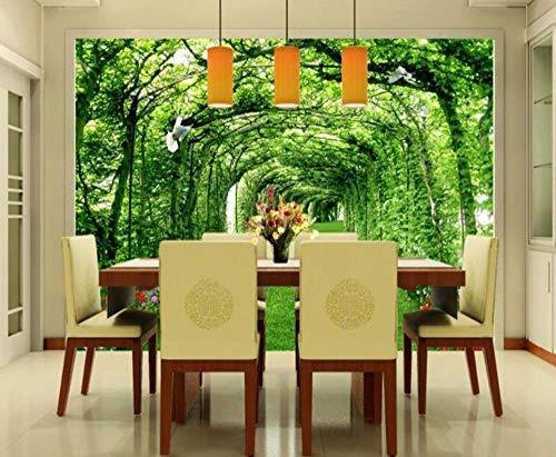 3D-wandbehang bospark weide 3D landschap achtergrond behang decoratie voor huis papier-maché wand 250*175 Onecolor