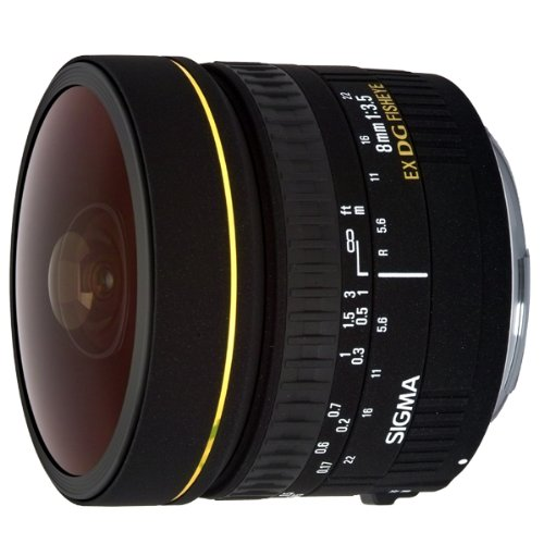 Sigma 8 mm F3,5 EX DG Zirkular Fisheye-Objektiv (Gelatinefilter) für Sigma Objektivbajonett