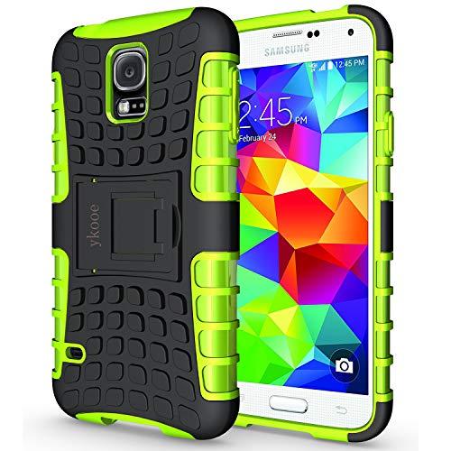 ykooe Galaxy S5 Hülle,S5 Hülle (TPU Series) Dual Layer Hybrid Handyhülle Drop Resistance Handys Schutz Hülle mit Ständer für Samsung Galaxy S5 (Grün)