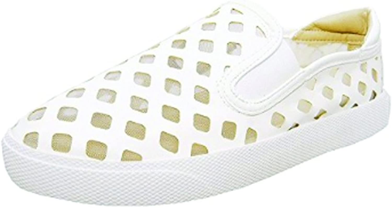 Wanted Pierre - White Laser Cut Slip-On Platform Sneaker