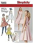 7900 Damen Vintagekleid 50er Jahre, Simplicity, R5 (40   48)